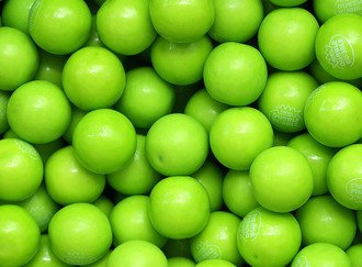 Green Apple Gumballs 25 mm