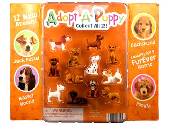 """Adopt A Puppy Series 4 in 1"""" vending supply"""