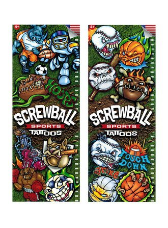 Screwball Sports Tattoos