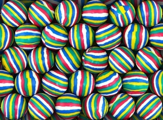 Color Stripe Mixed Balls 27 mm