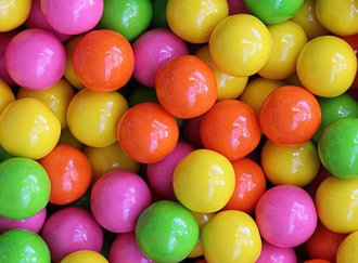 Bubble Brights Gumballs 25 mm