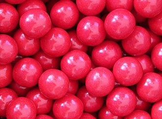 Really!! Cherry Gumballs 25 mm
