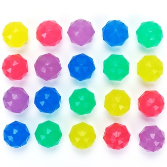 Diamond glow in the dark Hi-Bounce Balls Mix 32 mm